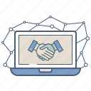 agreement, business, deal, handshake, partnership, public, relation icon