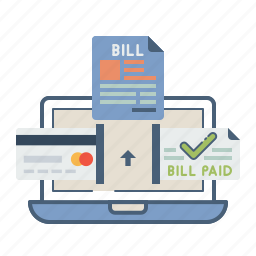 bill, card, electronic, invoice, master, online, payment icon