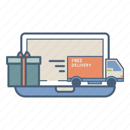 fulfillment, gift, logistics, marketplace, online, order, shipment icon