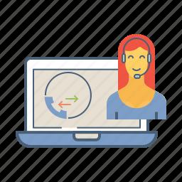 contact, customer, help, helpline, online, service, support icon