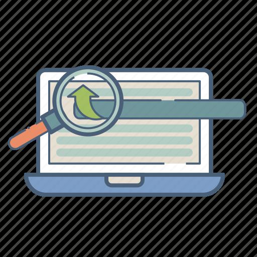analysis, engine, optimization, page, rank, search, web icon