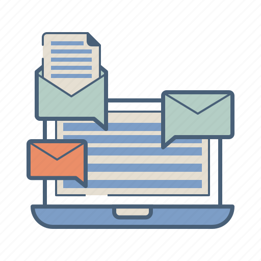 advertising, email, marketing, newsletter, press, release, seo icon
