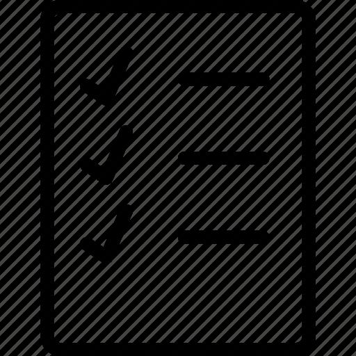 list, listed, listing, lists icon