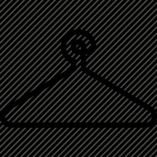cloth, cloth hanger, hanger, hanger cloth icon