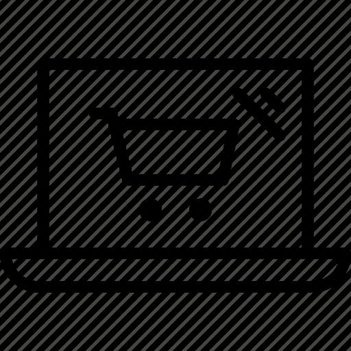 laptop, online shop, shop, shop online icon