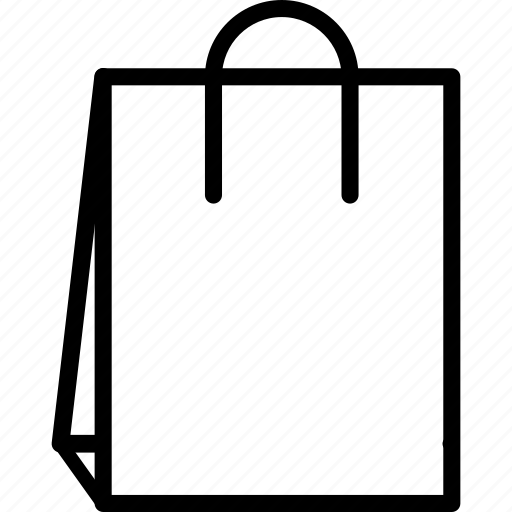 bag, paper, paper bag, shopping bag icon