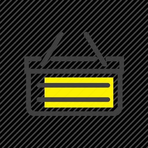 basket, cart, ecommerce, online, shop, shopping, webshop icon