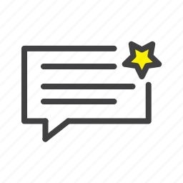 ecommerce, message, online, shop, shopping, star, webshop icon