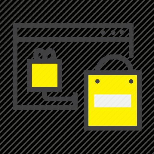 browser, ecommerce, online, shop, shopping, webshop, website icon