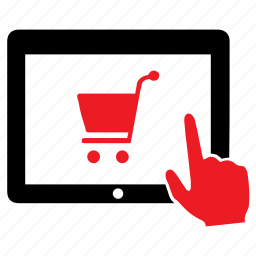 cart, ecommerce, online, purchase, shopping, tablet icon