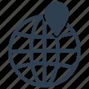 global, global pin, local, search, worldwide icon