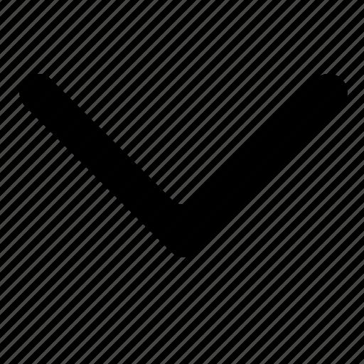 arrow, chevron, down, next, scroll icon