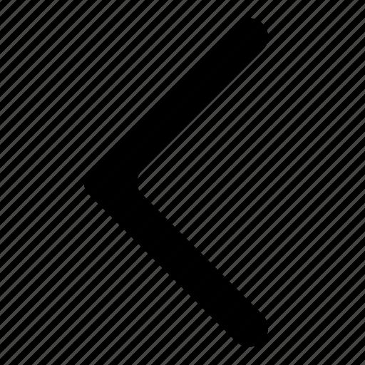 arrow, chevron, left, previous icon