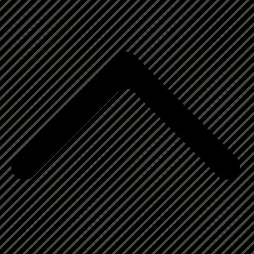 arrow, chevron, previous, scroll, up icon