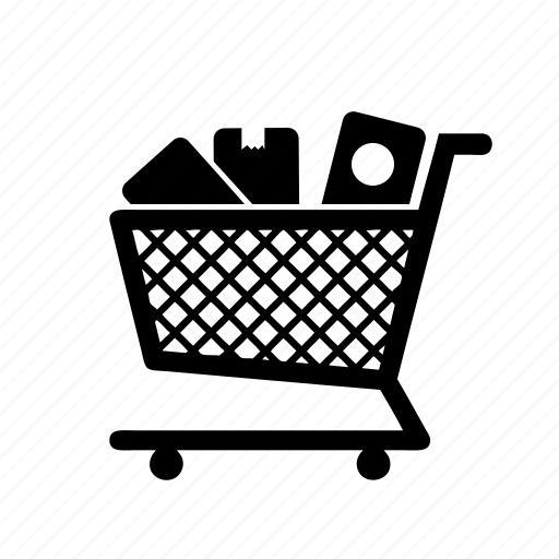 cart, items, shopping icon