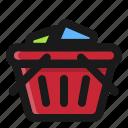 basket, commerce, e, full, shop, shopping icon