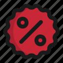 %, banner, commerce, discount, e, sticker icon