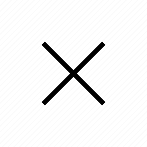 close, cross, delete, deny icon