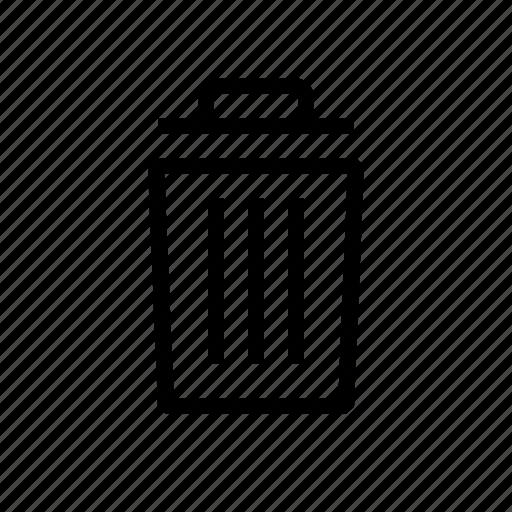 bin, delete, destroy, trash icon