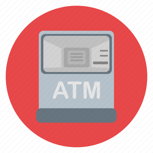 atm, banking, cash, currency, debit, machine, payment icon