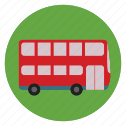 bus, city, dacker, double, doubledecker, road, vehicle icon