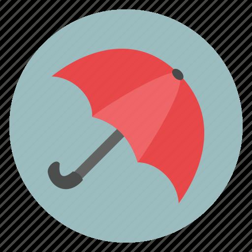 cloud, rain, red, summer, sun, umbrella, weather icon