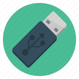 communication, connection, device, drive, media, technology, usb icon