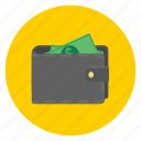 cash, coin, currency, money, payment, pocket, wallet icon