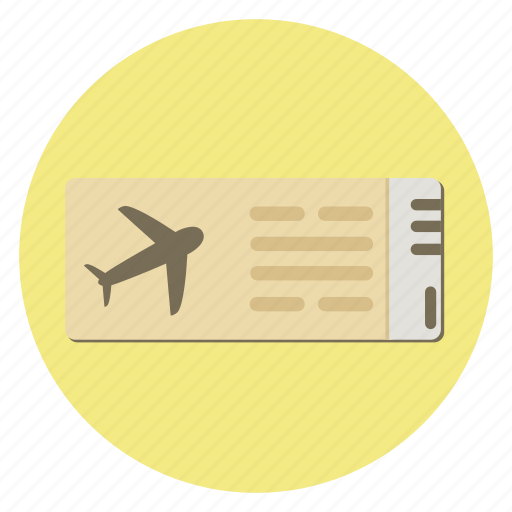 air, airplane, flight, plane, ticket, transport, travel icon