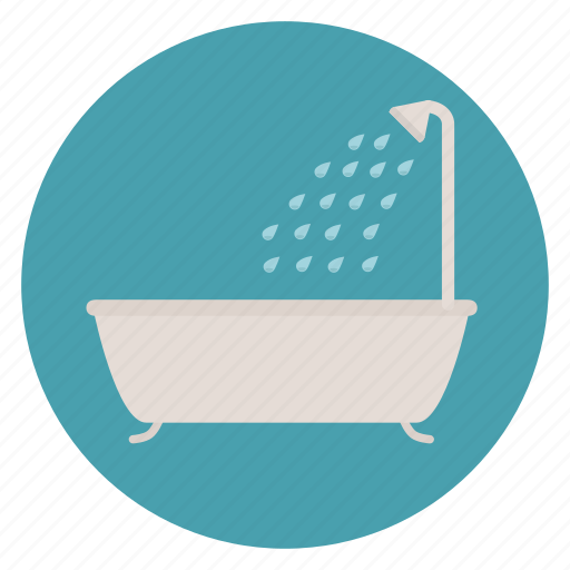 bath, bathroom, shower, tub, wash, water icon