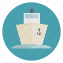 big, boat, cruise, marine, ocean, sailing, ship icon