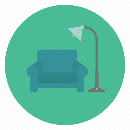 bulb, chair, electric, lamp, light, office, with icon