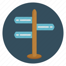 arrow, board, direction, left, location, navigation, right icon