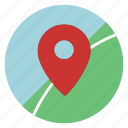 gps, location, map, navigation, pin, point, pointer icon