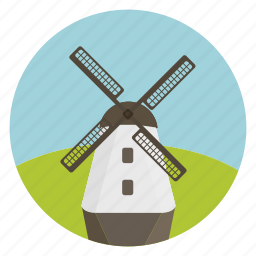 charge, electricity, generator, idea, light, power, windmill icon
