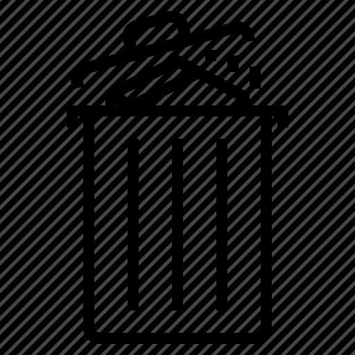 bin, cancel, delete, remove, trash icon