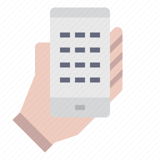 contact, hand, mobile, phone, smartphone, telephone icon