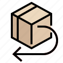 box, delivery, logistics, package, product, return, return and exchange icon