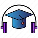 audio, audio course, book, course, education, learning icon
