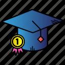 award, best student, prise, winner icon