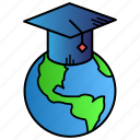 education, global, global education, learning, study icon