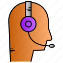audio, education, learning support, online, support icon