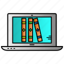 books, education, learning, online library, reading icon