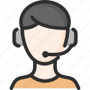 audio, e, education, headset, learning, lesson, person icon