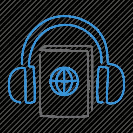 audio, book, listen, play icon