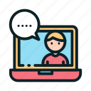 mentor, teacher, lecture, education, consultation, online icon