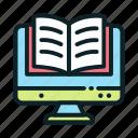 ebook, education, online, reading icon