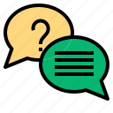 answer, communication, question icon