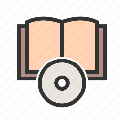 book, books, cd, disc, dvd, education, software icon