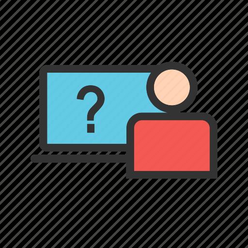 faq, internet, online, questions, screen, survey, web icon